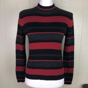 Laura Scott Striped Crew Neck Sweater Sm